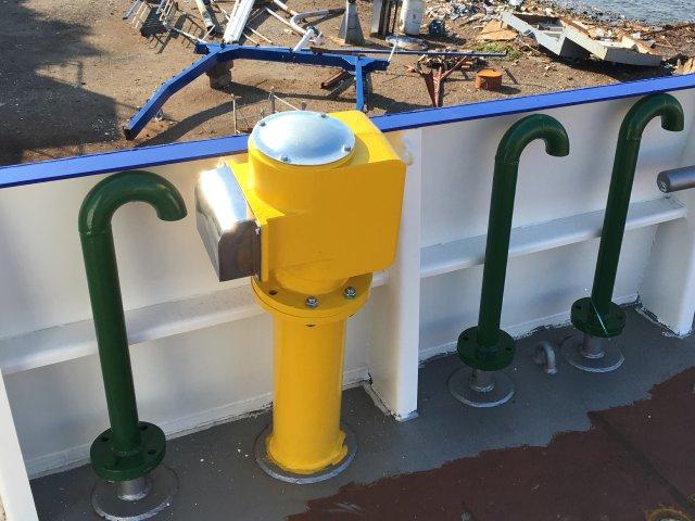 detalle barco Bonaire